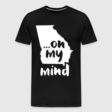 Georgia... on my mind State T-shirt - Men's Premium T-Shirt