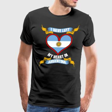 I Have Left My Heart In Argentina - Men's Premium T-Shirt