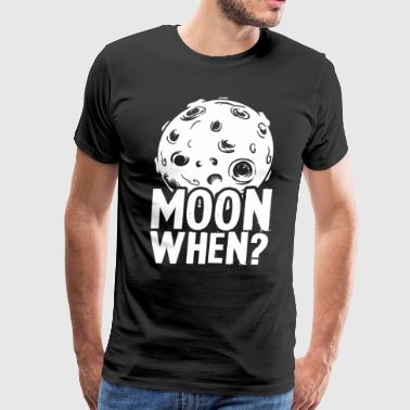 Think Crypto - Moon When? - Men's Premium T-Shirt
