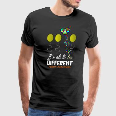 Love Autism Awareness Balloon Design - Men's Premium T-Shirt