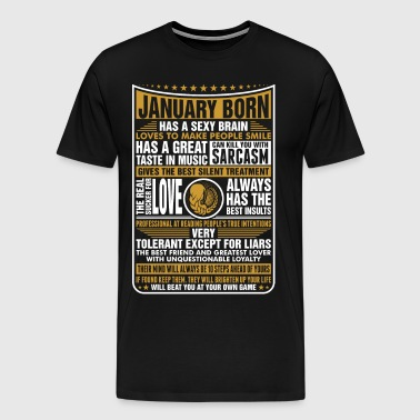 January Virgo Born - Men's Premium T-Shirt