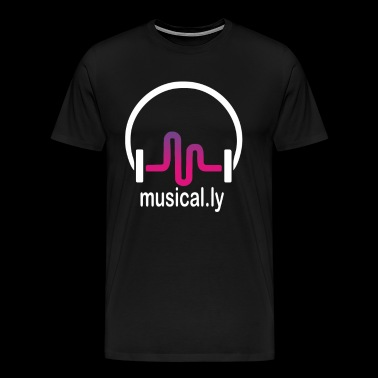 Musical Funny Headphone Music - Men's Premium T-Shirt