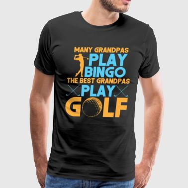 Best grandpa play golf - Men's Premium T-Shirt