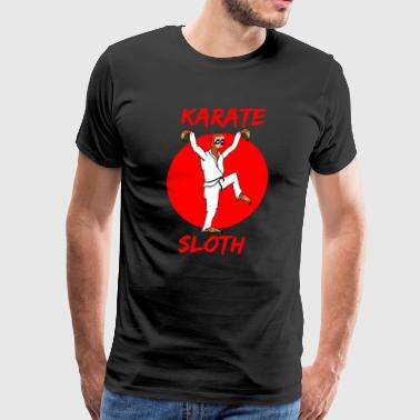 karate sloth - Men's Premium T-Shirt