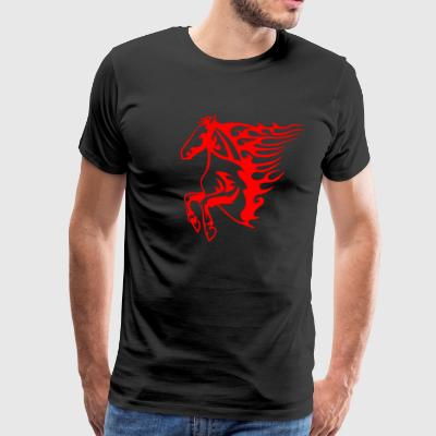 Flaming Horse - Men's Premium T-Shirt