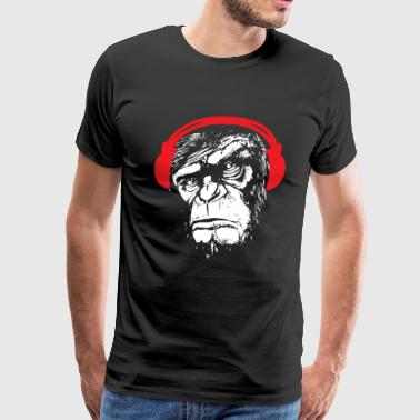 Monkey headphones music gift bass - Men's Premium T-Shirt