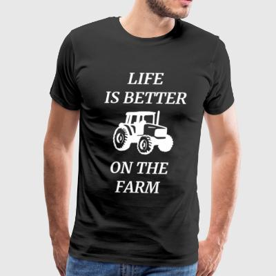 FARMER PRESENT AGRICULTURE FARM COW CROP PIG FIELD - Men's Premium T-Shirt