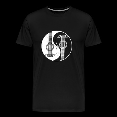 Yin Yang Guitar - Acoustic Music Spiritual Gift - Men's Premium T-Shirt