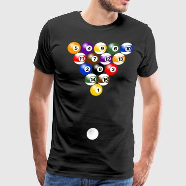 Billiard balls formation - Men's Premium T-Shirt