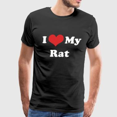 I Love My Rat - Men's Premium T-Shirt