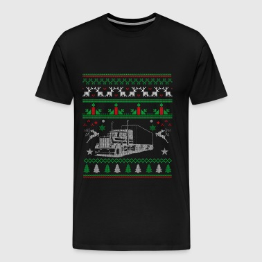 Truck-awesome christmas sweater for trucker - Men's Premium T-Shirt