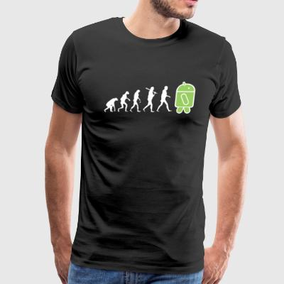 Evolution to android - Men's Premium T-Shirt