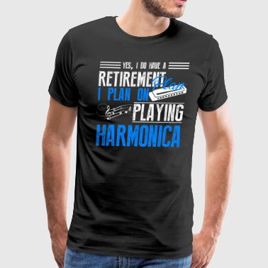 Retirement Plan On Playing Harmonica Shirt - Men's Premium T-Shirt