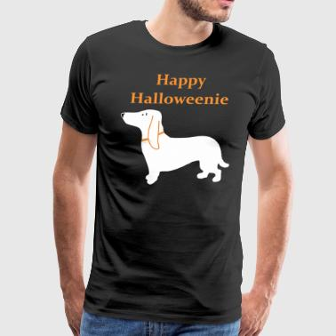 Happy Halloweenie Dachshund - Men's Premium T-Shirt