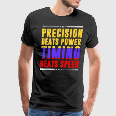 Precision Beats Power Timing Beats Speed Colombian - Men's Premium T-Shirt