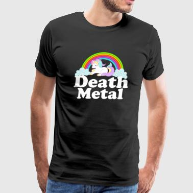 Death Metal Rainbow Unicorn Alternative Rock Music - Men's Premium T-Shirt