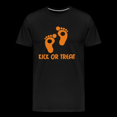 KICK OR TREAT Funny Slogan - Men's Premium T-Shirt