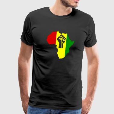 Africa Power Rasta Reggae Music - Men's Premium T-Shirt