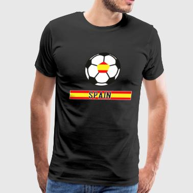 Spain Worldchampion 18 Soccer Football transparent - Men's Premium T-Shirt