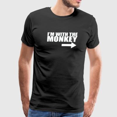 Im With Monkey - Men's Premium T-Shirt