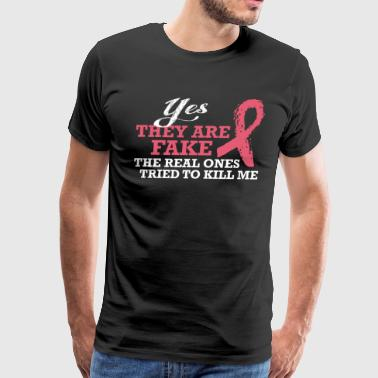 Real Ones Tried To Kill Me Breast Cancer Awareness - Men's Premium T-Shirt
