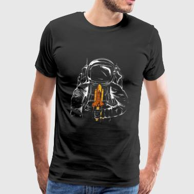 astronaut on fire - Men's Premium T-Shirt
