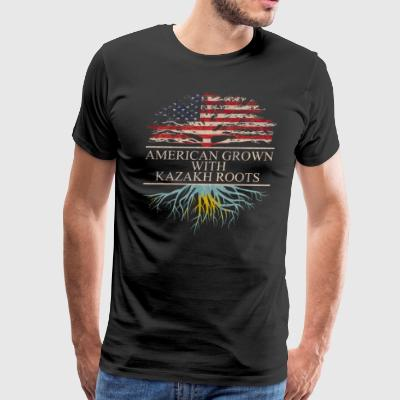 American grown with Kazakh Roots - Men's Premium T-Shirt