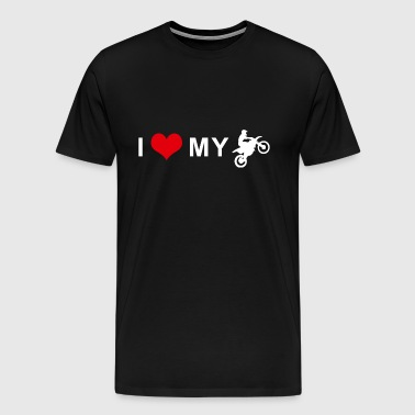 I LOVE MY MOTORCYCLE - Motocross - Men's Premium T-Shirt