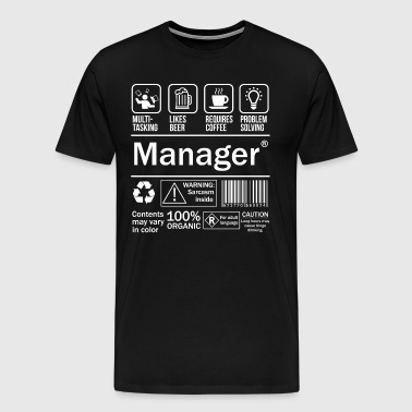 Manager Funny T-Shirt - Men's Premium T-Shirt