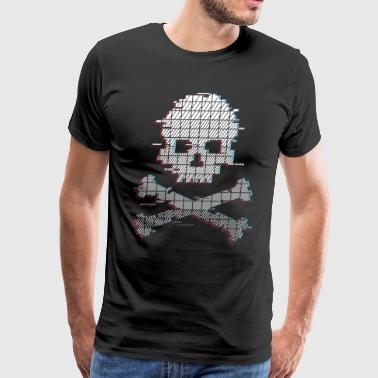 Stereo Glitch Game over - Men's Premium T-Shirt