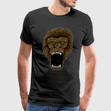 Gorilla On Rampage - Ape Alpha Leader Zoo Rage - Men's Premium T-Shirt