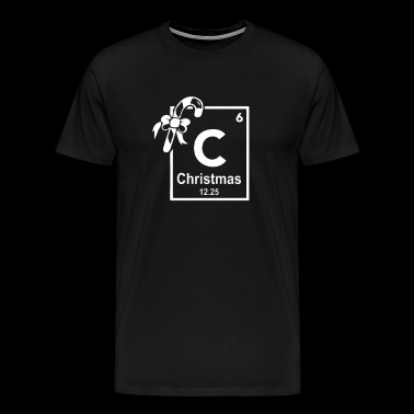 Christmas Periodic Table Of Elements - Men's Premium T-Shirt