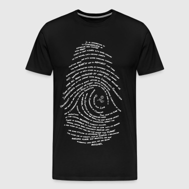 Darwin's Fingerprint wht by Tai's Tees - Men's Premium T-Shirt