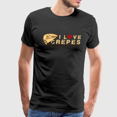 I Love Crepes Shirt - Men's Premium T-Shirt