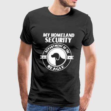 Beagle Homeland Security Shirt - Men's Premium T-Shirt