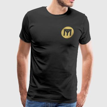 Trend Monster Gold Circle LOGO - Men's Premium T-Shirt