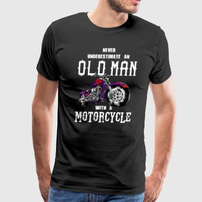 Never Underestimate an Old Man Motorcycle - Men's Premium T-Shirt