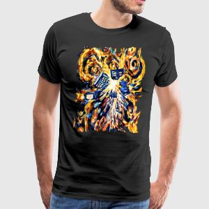 Exploded Pandora Phone Box abstract paintings - Men's Premium T-Shirt