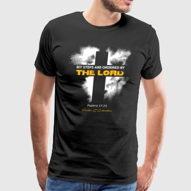 Pastor G Collection - My Steps Are Ordered - Men's Premium T-Shirt