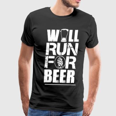 I Will Run For Beer Shirt - Men's Premium T-Shirt