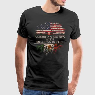 American grown with mexican roots - Men's Premium T-Shirt