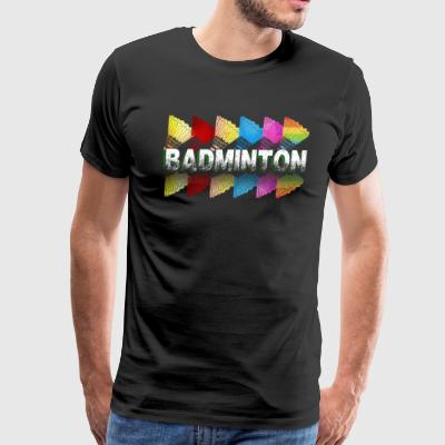 COLORFUL BADMINTON SHIRT - Men's Premium T-Shirt