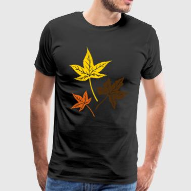 Leaves from the maple, Indian summer, Canada. - Men's Premium T-Shirt
