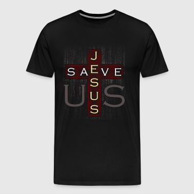 Jesus Cross Christianity Church Gift - Men's Premium T-Shirt