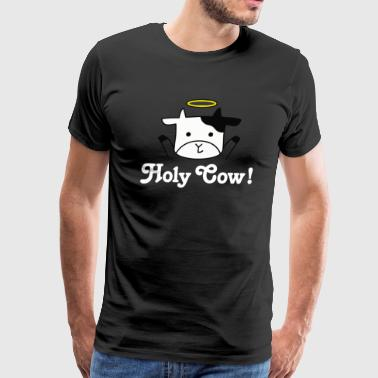 Holy Cow Loves Cow Animal Farm Print T'Shirts - Men's Premium T-Shirt