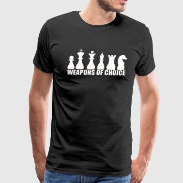 CHESS WEAPONS OF CHOICE - Men's Premium T-Shirt