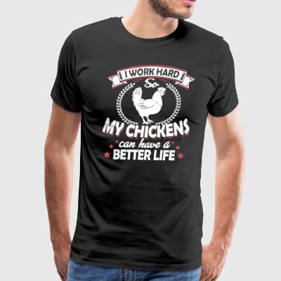 Chicken Tee Shirt - Men's Premium T-Shirt