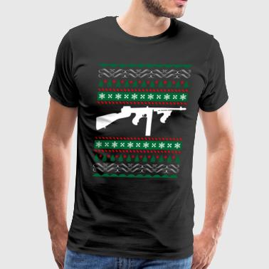Tommy Gun Ugly Christmas Sweater Xmas - Men's Premium T-Shirt
