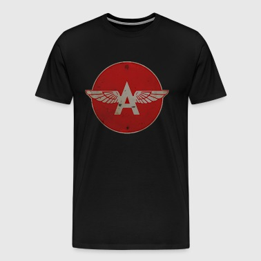 Flying A Gasoline Red Circle Rusty version - Men's Premium T-Shirt