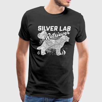 GEOMETRIC SILVER LAB RETRIEVER SHIRT - Men's Premium T-Shirt